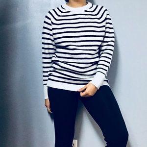 PHILOSOPHY • Fuzzy Oversize Stripe Knit Sweater S